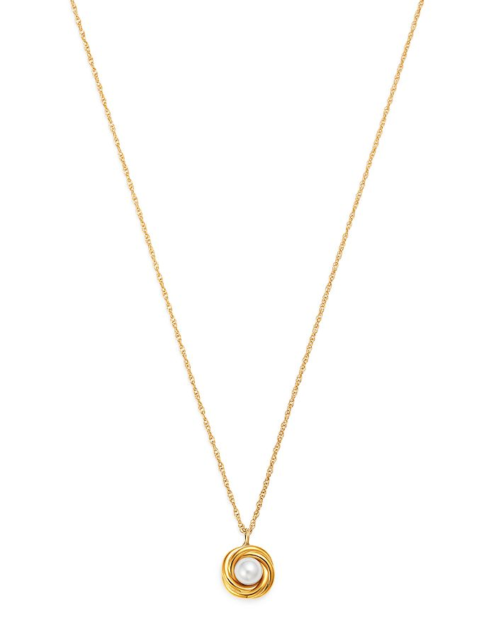 "Bloomingdale's - Cultured Freshwater Pearl Knot Pendant Necklace in 14K Yellow Gold, 18"" - 100% Exclusive"
