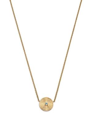 Kiki McDonough 18K Yellow Gold Fantasy Blue Topaz Necklace, 16