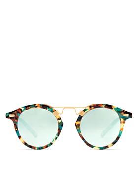 Krewe - Women's Krewe St. Louis 24K Mambo Mirrored Round Sunglasses, 46mm - 100% Exclusive