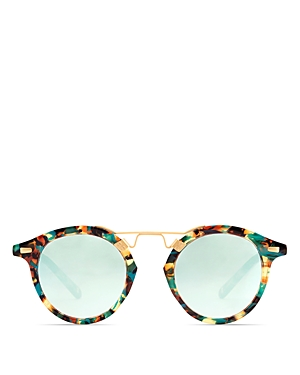 Krewe Women's Krewe St. Louis 24K Mambo Mirrored Round Sunglasses, 46mm - 100% Exclusive