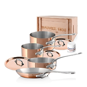 Mauviel M'150s Copper 7-Piece Cookware Set
