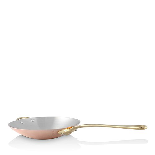 """Mauviel - M'150b Copper & Stainless Steel 12"""" Wok"""
