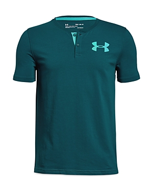 Under Armour Boys Knit Henley  Big Kid