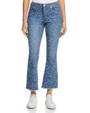 Michael Michael Kors Printed Jeans in True Navy/Light Chambray 2907155