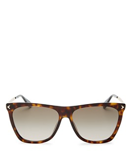 Givenchy - Women's Flat Top Square Sunglasses, 57mm