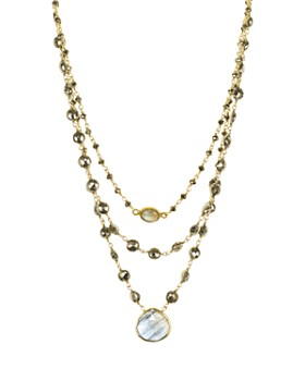 Ela Rae - Beaded Chain Layer Necklace, 18""