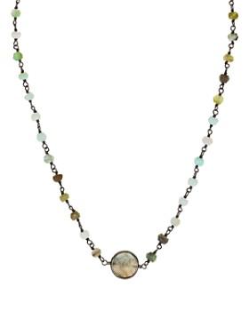 "Ela Rae - Libi Round Pendant Chain Necklace, 13"""