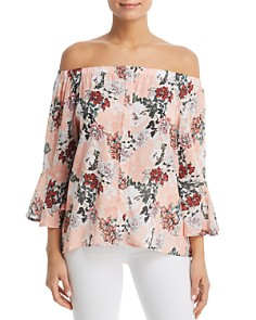 Tolani - Floral-Print Off-the-Shoulder Top