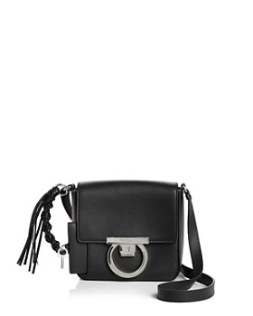Salvatore Ferragamo - Small Gancio Lock Calfskin Shoulder Bag