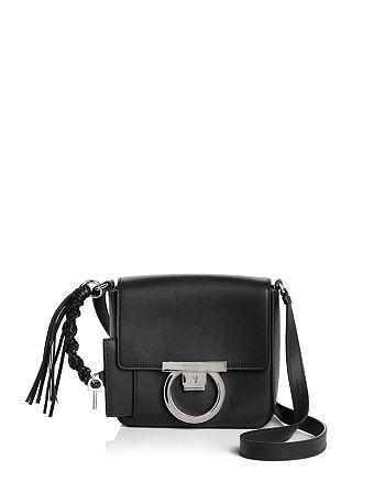 21467101803e Salvatore Ferragamo Small Gancio Lock Calfskin Shoulder Bag ...