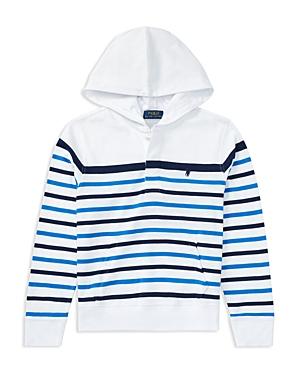 Polo Ralph Lauren Boys Striped Hoodie  Big Kid