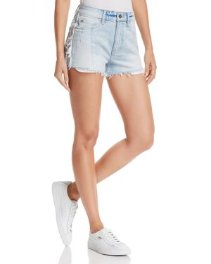 PISTOLA WINSTON HIGH-RISE CUTOFF DENIM SHORTS IN FAST LANE