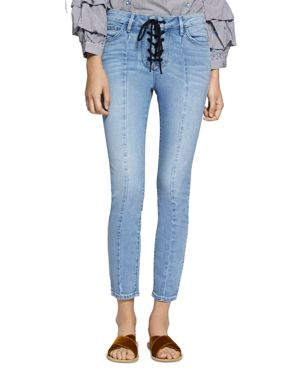 Sanctuary Robbie Lace-Up Cropped Jeans in Evelyn 2948347