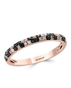 Bloomingdale's Black, White & Brown Diamond Stacking Ring in 14K Rose Gold - 100% Exclusive _0