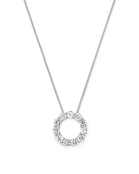 Bloomingdale's - Diamond Circle Pendant Necklace in 14K White Gold, 2.0 ct. t.w.- 100% Exclusive