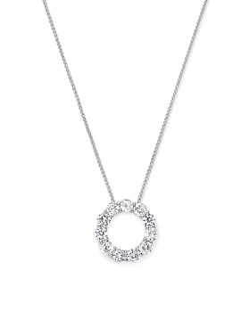 Bloomingdale's - Diamond Circle Pendant Necklace in 14K White Gold, 2.0 ct. t.w. - 100% Exclusive