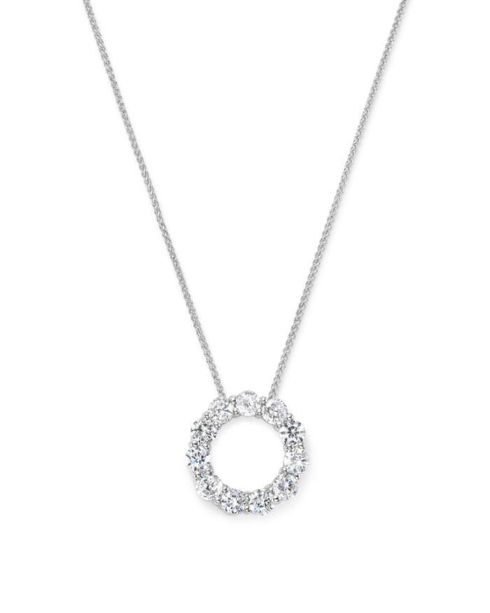 Bloomingdale's Diamond Circle Pendant Necklace in 14K White Gold, 2.0 ct. t.w.  - 100% Exclusive  | Bloomingdale's