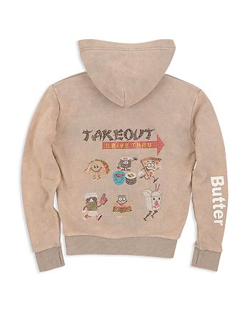 Butter - Girls' Takeout Appliqué Hoodie - Big Kid