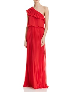 Avery G - One-Shoulder Chiffon Gown