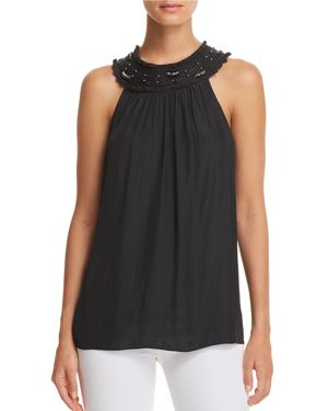 ANNE EMBELLISHED-YOKE TOP from Bloomingdale's