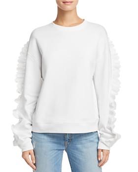 McQ Alexander McQueen - Lace-Trimmed Sweatshirt ... 1fa8d84d5f9