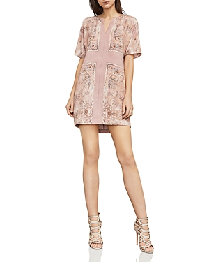 Bcbgmaxazria Harlan Scarf Print Shift Dress