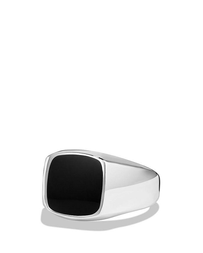 David Yurman - Exotic Stone Ring with Black Onyx in Silver