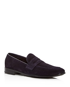 The Men's Store at Bloomingdale's - Men's Suede Apron Toe Penny Loafers - 100% Exclusive