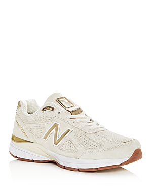 New Balance Men's Suede 990v4 Lace Up Sneakers