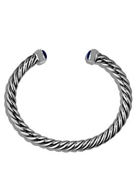 David Yurman - Cable Classic Cuff Bracelet with Lapis Lazuli