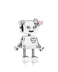 PANDORA Sterling Silver & Enamel Friends Are Family Bella Bot Charm - Bloomingdale's_0