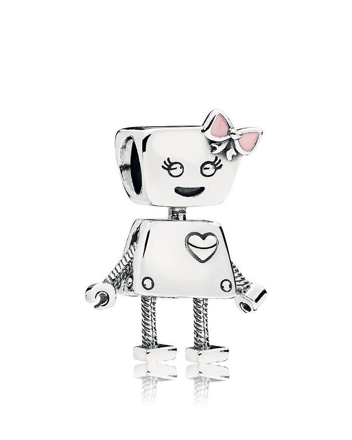Pandora - Sterling Silver & Enamel Friends Are Family Bella Bot Charm