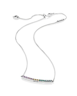 b44dee262 ... PANDORA Sterling Silver Arch Necklace, ...