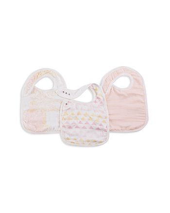 Aden and Anais - Metallic-Print Bibs, 3 Pack