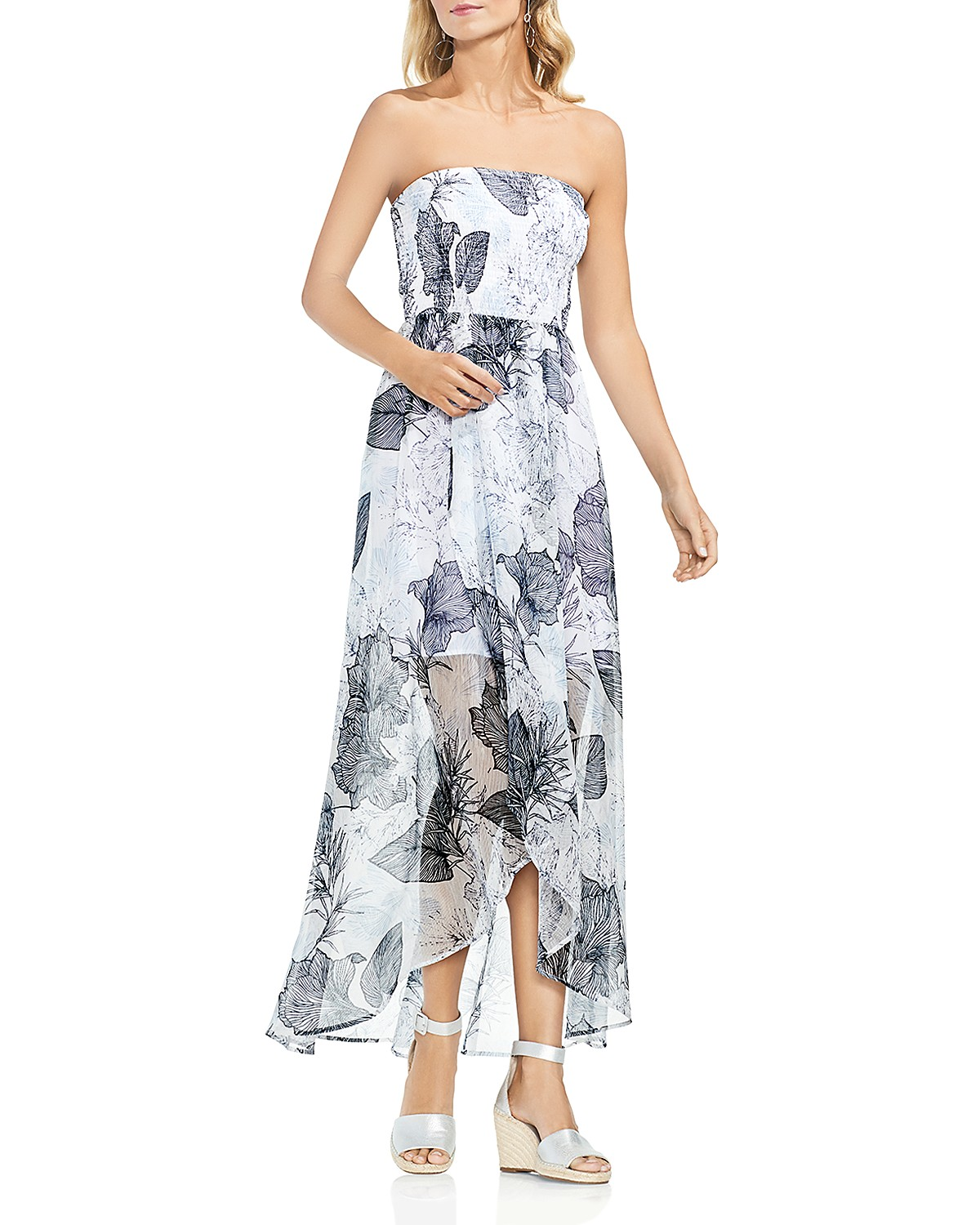 VINCE CAMUTO Smocked Island Floral Maxi Dress | Bloomingdale\'s