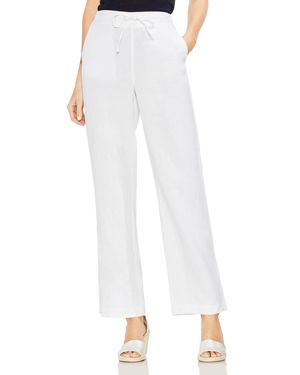 TWO BY VINCE CAMUTO LINEN DRAWSTRING WIDE-LEG PANTS