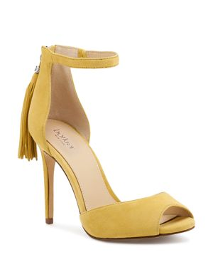 Women'S Anna Suede Ankle Strap High-Heel Sandals, Pineapple Suede