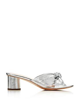 Loeffler Randall - Loeffler Randall Women's Celeste Knot Mid Heel Slide Sandals