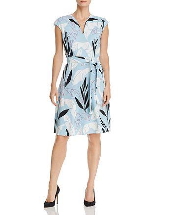 BOSS - Doliana Leaf-Print Belted Dress