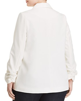 Love Ady Plus - Cinched-Sleeve Open Blazer