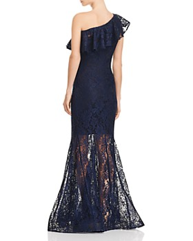 Avery G - One-Shoulder Lace Gown