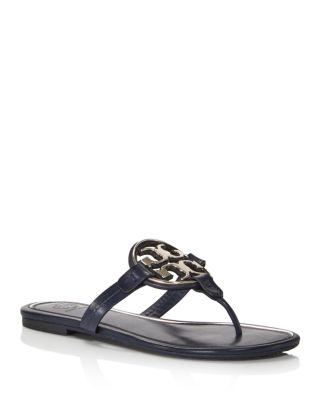 Metal Miller Leather Thong Sandals
