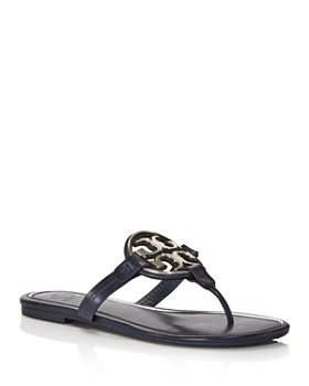 5eb87904175c4 Tory Burch - Women s Metal Miller Leather Thong Sandals ...