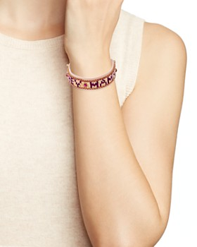 Rebecca Minkoff Beaded Fringe Cuff Bracelet