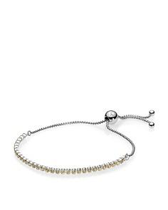PANDORA Sterling Silver & Cubic Zirconia Sparkling Strand Bracelet - Bloomingdale's_0