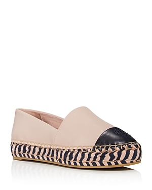 Tory Burch Women's Leather Color-Block Platform Espadrilles