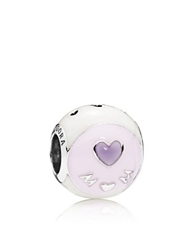 PANDORA - Sterling Silver & Enamel Love Mom Charm