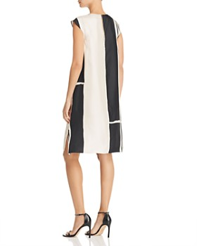 Theory - Hans Silk Stripe Shift Dress