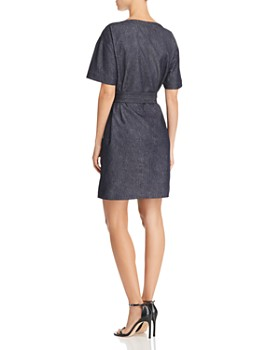 Theory - Belted Denim Shift Dress