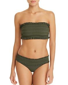 Tory Burch - Costa Ruffle Bandeau Bikini Top & Hipster Bikini Bottom